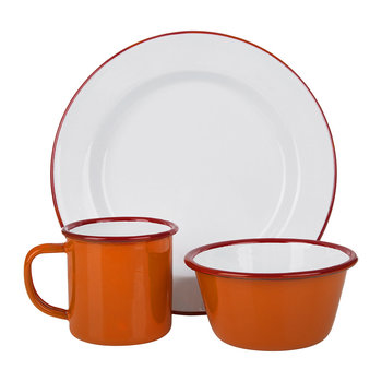Pillarbox Red Rim Tableware Collection