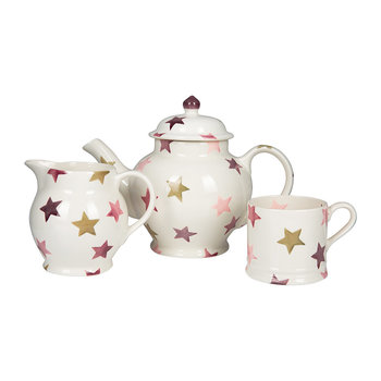 Pink & Gold Stars Tableware