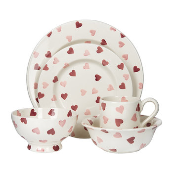 Pink Hearts Tableware