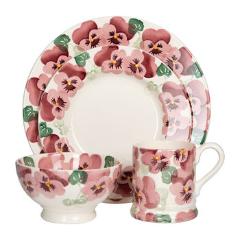 Pink Pansy Tableware