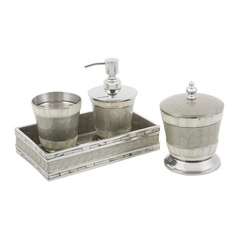 Classic Platinum Bathroom Accessory Set