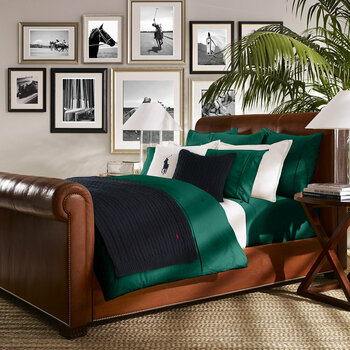 Polo Player Bed Linen - Evergreen