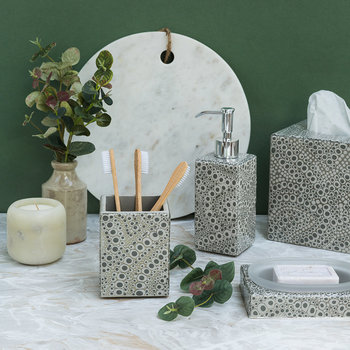 Proseco Bathroom Accessory Set - Gravel/Silver
