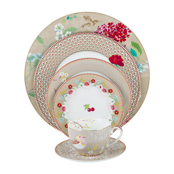 Floral 2.0 Tableware Collection - Khaki