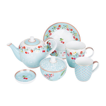 Floral 2.0 Tea Set - Blue