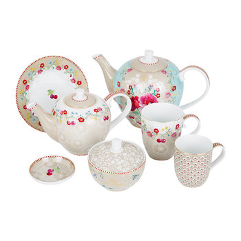 Floral 2.0 Tea Set - Khaki