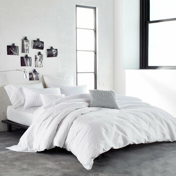 Ripple White Bed Linen