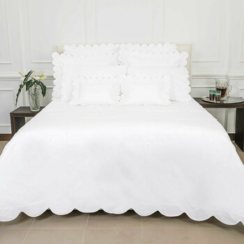 Scallop Bed Linen Collection - White