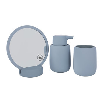 Sono Ashley Blue Bathroom Accessory Set