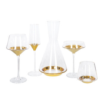 Space Glassware - Gold