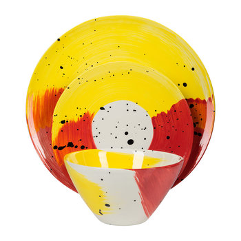 Swish Tableware - Red and Yellow