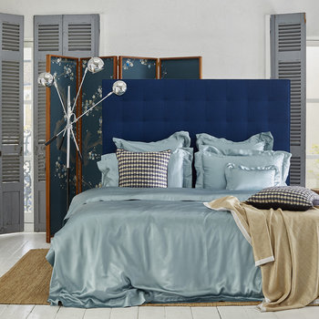 Teal Silk Bed Linen