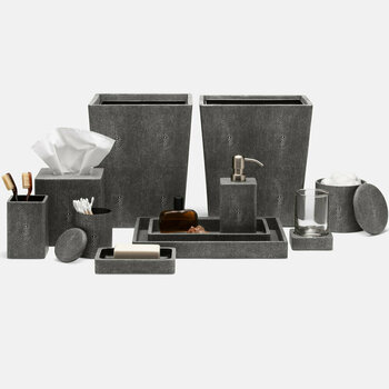 Tenby Bathroom Accessories Set - Cool Grey