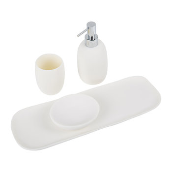 White Bathroom Accessory Set