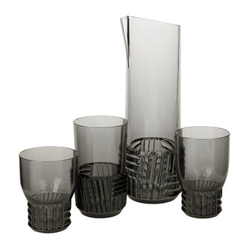 Trama Glassware - Smoke Grey
