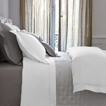 Triomphe Sateen White Bed Linen