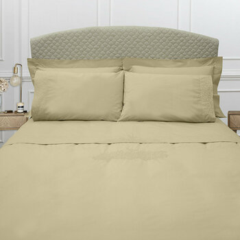 Wallis Bed Linen Collection - Taupe/Silver