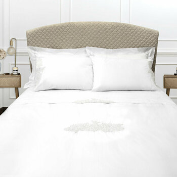 Wallis Bed Linen Collection - White/Silver