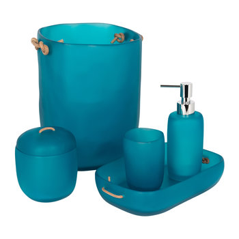 Water Bath Bathroom Accessory Set - Ocean Blue