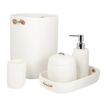 Water Bath Bathroom Accessory Set - White