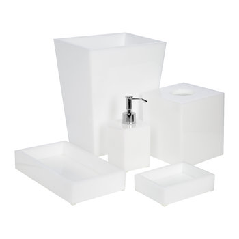 White Ice Bathroom Accessory Set