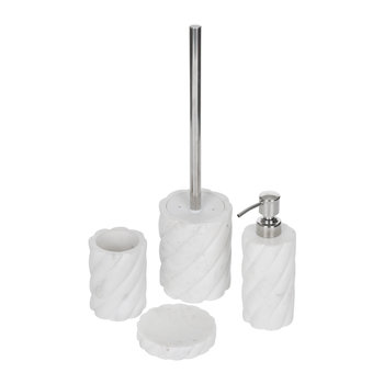 White Marble Bathroom Accessory Set