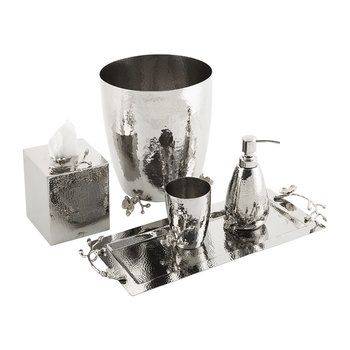 White Orchid Bathroom Accessory Set