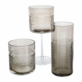 Wicker Taupe Glassware