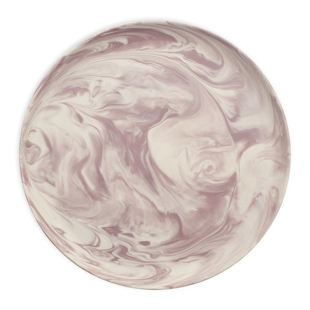 Swirl Marble by Blisshome - Marble Dinner Plate - Pink