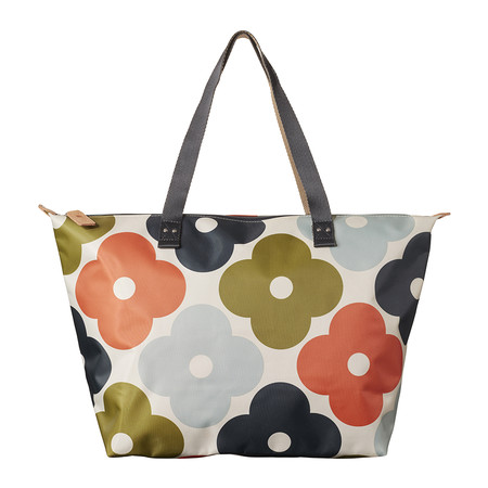 Orla Kiely - Giant Flower Spot Zip Shopper