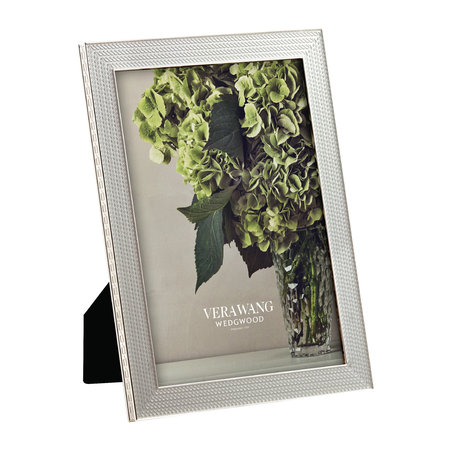 """Vera Wang for Wedgwood - With Love Silver Photo Frame - 5x7"""""""