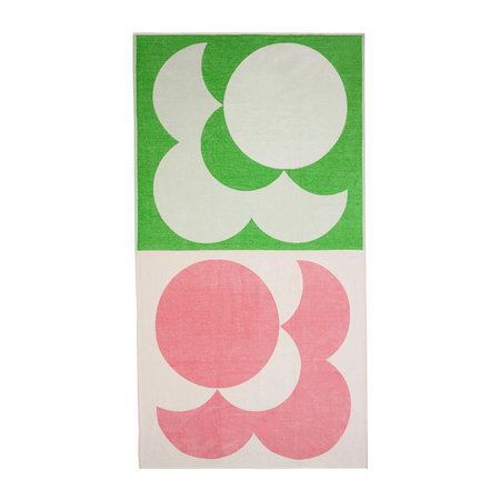Bigspot Com Reviews >> Buy Orla Kiely Bigspot Shadow Flower Beach Towel - Pale Rose/Emerald | Amara