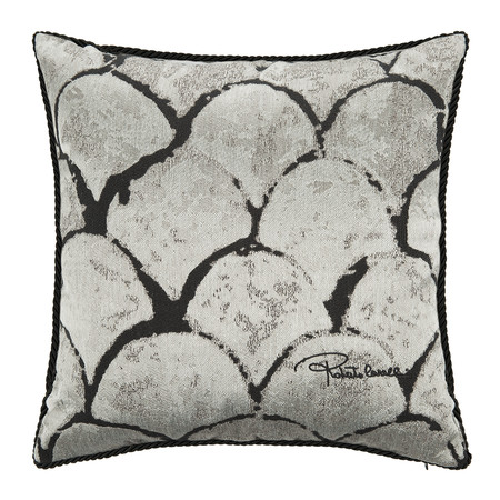 Roberto Cavalli - Silver & Gold Bed Pillow - 40x40cm - Silver
