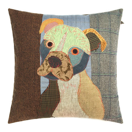 Carola van Dyke - Simon the Staffie Pillow - 50x50cm