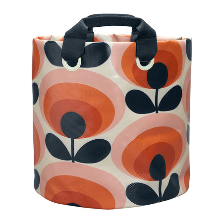 Orla Kiely - 70s Flower Fabric Plant Bag - Persimmon - Large