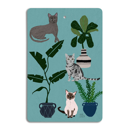 Avenida Home - Annie Bentley - Cats & Dogs Chopping Board - Cat