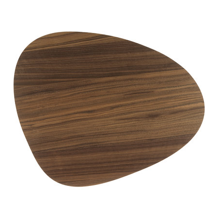 LIND DNA - Small Reversible Table Mat Curve - Walnut/Black