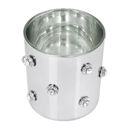 Mike + Ally - Nova Jewelled Glass Toothbrush Holder - Silver