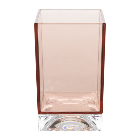 Kartell - Square Toothbrush Holder - Nude Pink
