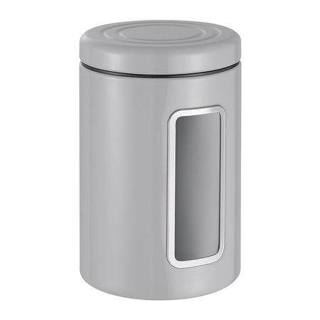 Wesco - Classic Line Canister with Window - 2L - Cool Grey