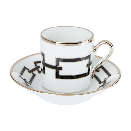 Richard Ginori 1735 - Catene Coffee Cup & Saucer - Nero