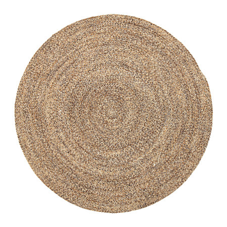 Buy bloomingville woven round rug natural amara for Where to buy round rugs