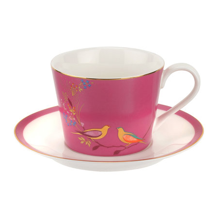 Sara Miller - Chelsea Collection Teacup & Saucer - Pink