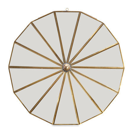 Nkuku - Kiko Decorative Mirror - Antique Brass