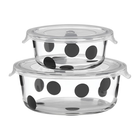 kate spade new york - Deco Dot Food Storage Dishes - Round - Set of 2