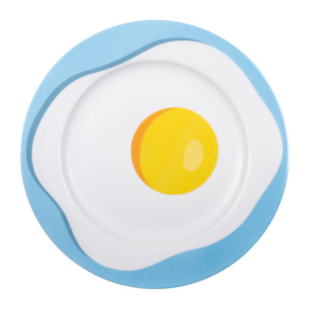 Seletti - 'Blow' Porcelain Dinner Plate - Egg