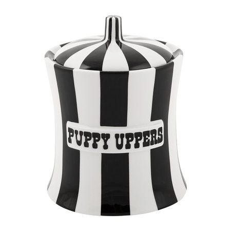 Jonathan Adler - Vice Canister - Puppy Uppers - Black/White