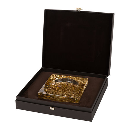 Roberto Cavalli - Crocodile Ashtray Notch - Clear/Gold