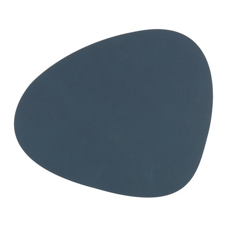LIND DNA - Curve Table Mat - Dark Blue - Small