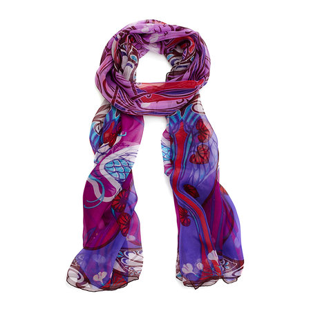 Liberty London - Heron Scarf - 70x180cm - Purple